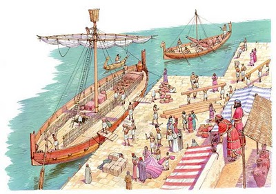 Comerciantes natos, fenícios [Foto: veias da história]