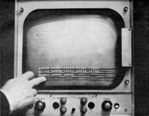 Primeira tela touch inventada